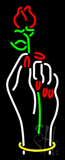 Vertical Nails Logo with Flower Neon Sign