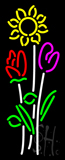 Vertical Flowers Logo Neon Sign