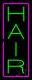 Vertical Green Hair with Pink Border Neon Sign