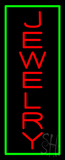 Jewelry Vertical Green Border Neon Sign