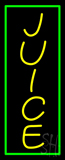 Yellow Juice with Green Border Neon Sign