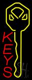 Vertical Keys Neon Sign