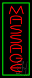 Red Massage Green Border Neon Sign