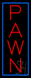 Vertical Red Pawn Blue Border Neon Sign