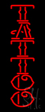 Vertical Red Tattoo LED Neon Sign