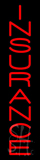Vertical Red Insurance Neon Sign