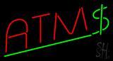 Red ATM Dollar Logo LED Neon Sign
