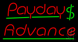 Red Payday Advance Dollar Logo LED Neon Sign