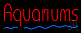 Red Aquariums Blue Line LED Neon Sign