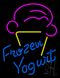 Blue Frozen Yogurt with Logo LED Neon Sign