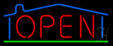 House Logo Open LED Neon Sign