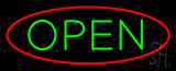 Open Oval Red Green LED Neon Sign