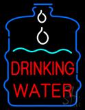 Drinking Water inside Bottle Neon Sign