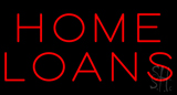 Red Block Home Loans LED Neon Sign