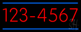 Custom - Phone - Double Line 6 Numbers LED Neon Sign