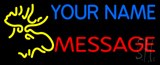 Custom - Moose Head LED Neon Sign
