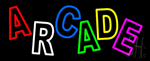 Double Stroke Multicolored Arcade Neon Sign