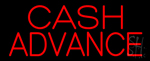 Red Cash Advance Neon Sign