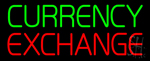 Green Currency Exchange Neon Sign