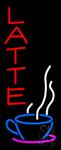Red Vertical Latte Logo Neon Sign