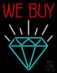 We Buy Diamond Neon Sign