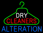Dry Cleaners Hanger Logo Alteration Neon Sign