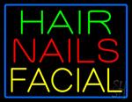 Hair Nails Facial Neon Sign