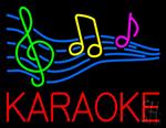 Red Karaoke Block Neon Sign