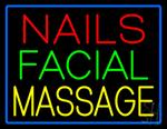 Nails Facial Massage Neon Sign