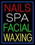 Nails Spa Facial Waxing Neon Sign