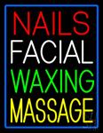 Nails Facial Waxing Massage Neon Sign