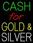 Cash for Gold & Silver Neon Sign
