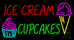 Ice Cream Cupcakes Neon Sign