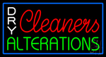 Dry Cleaners Alterations Neon Sign