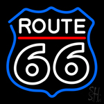 White Route 66 Neon Sign