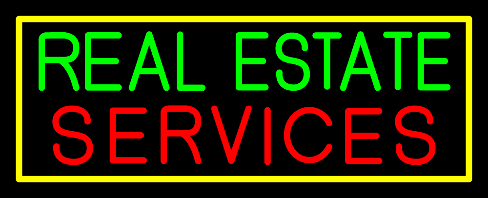 Real Estate Services Neon Sign