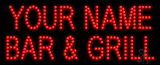 Custom Red Bar And Grill Led Sign