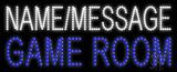 Custom Blue Game Room Led Sign