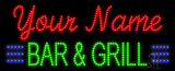 Custom Green Bar And Grill Led Sign
