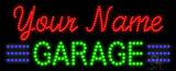 Custom Green Garage Led Sign