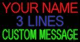 Custom 3 Lines Led Sign