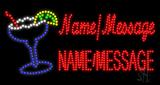 Custom Margarita Glass Logo Led Sign