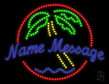 Custom Palm Tree Red Circle Led Sign