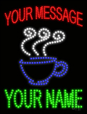 Custom Coffee Cup With Steam Led Sign