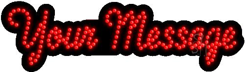 Custom Red Led Sign