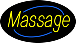 Deco Style Yellow Massage Neon Sign