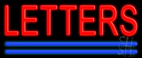 Custom Blue Double Lines Neon Sign