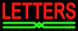 Custom Green Line Neon Sign