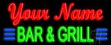 Custom Green Bar And Grill Neon Flex Sign