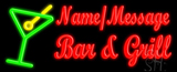 Custom Martini Glass Bar And Grill LED Neon Sign